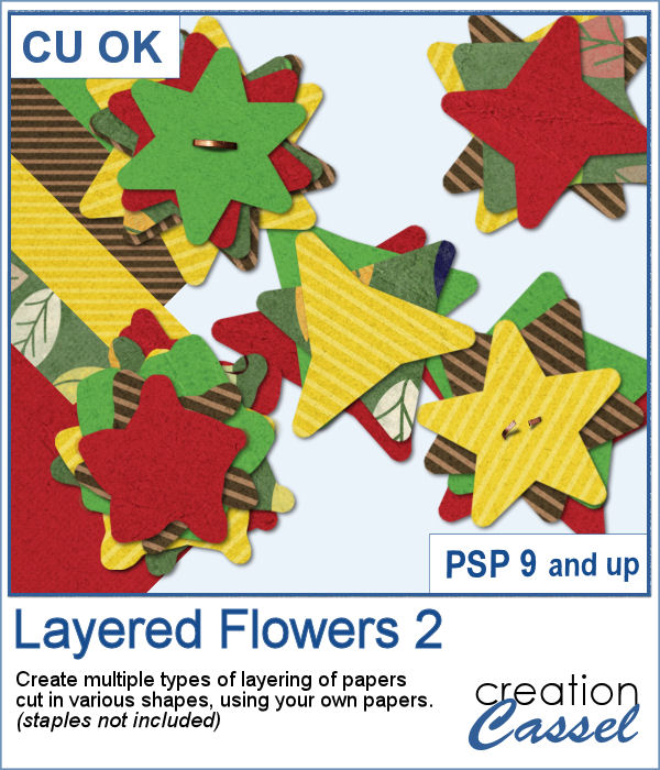Layered Flowers script for Paintshop Pro