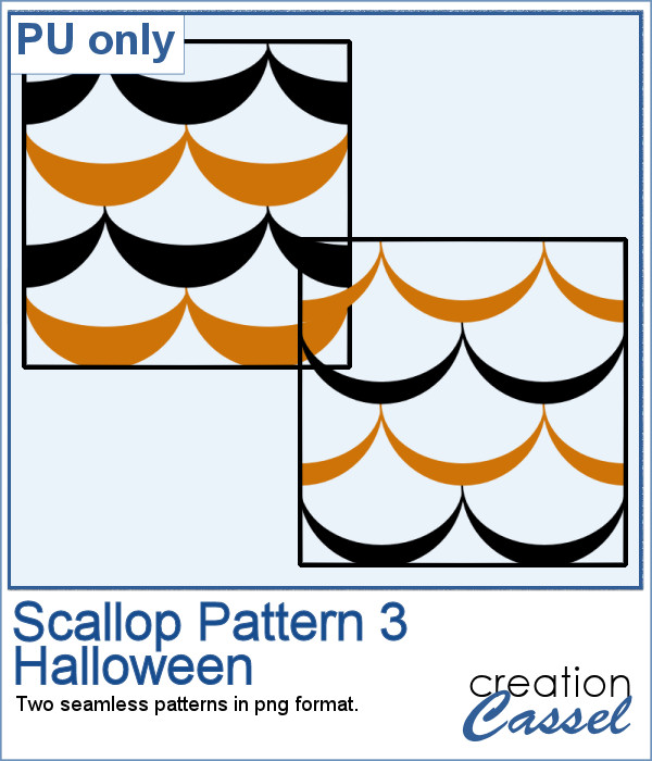 Scallop pattern for Halloween