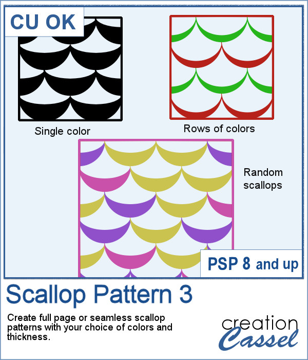 Scallop Pattern script for Paintshop Pro