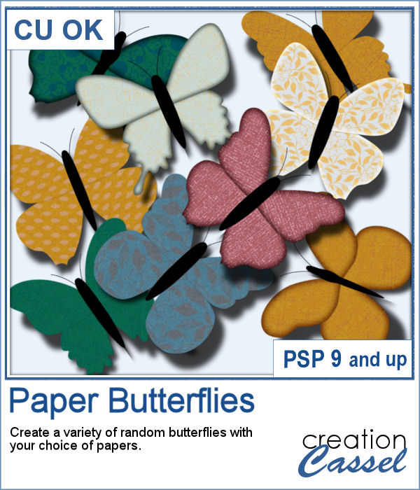 Paper butterflies script for Paintshop Pro