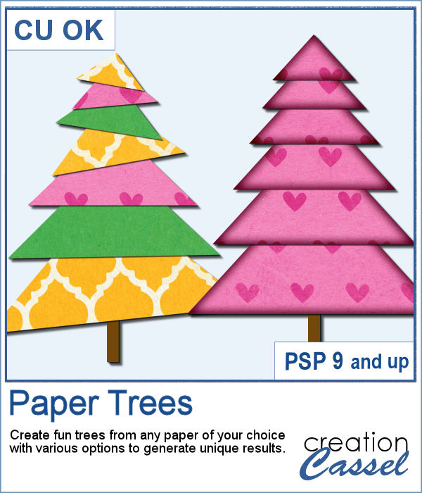 Paper Tree script for Paintshop Pro