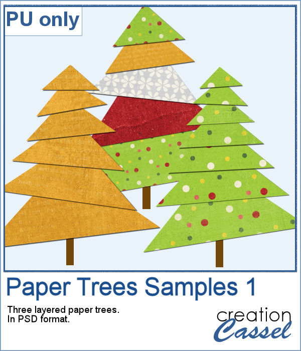 Paper trees in PSD format