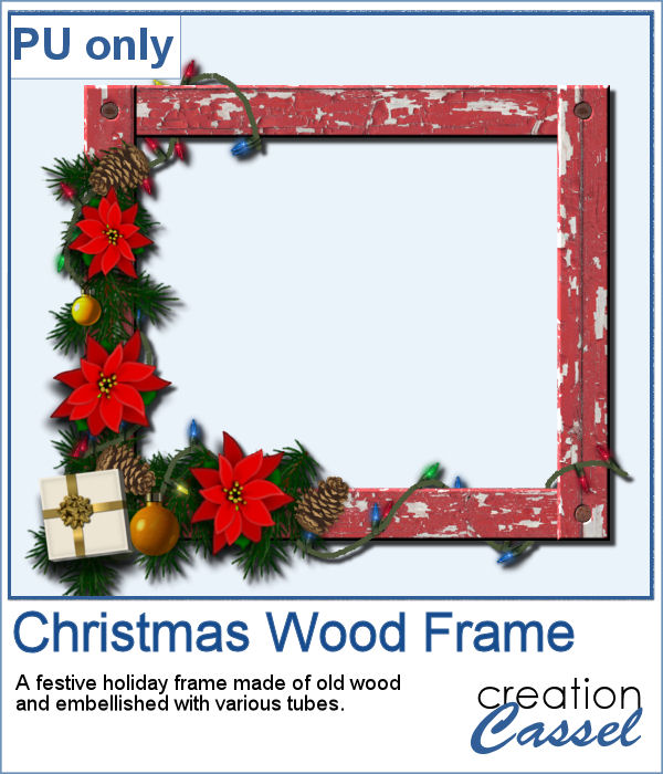 Holiday Wooden Frame in PNG format