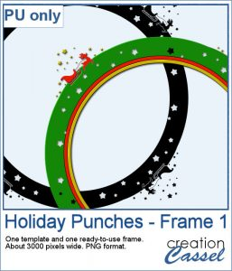 Holiday frame in PNG format