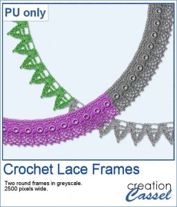 Crochet lace frames for free