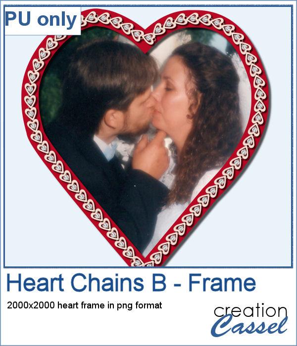 Heart shape frame made with Heart chain