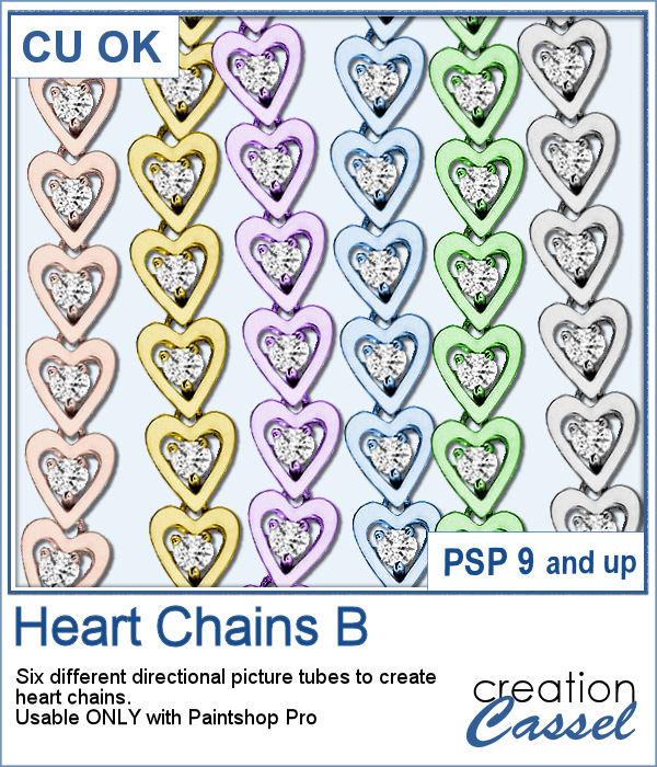 Heart Chains Picture tubes for Paintshop Pro