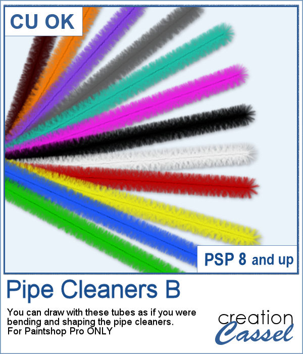 Pipe Cleaner picture tubes for Paintshop Pro