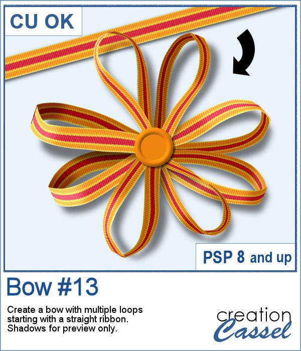 Bow script for Paintshop Pro