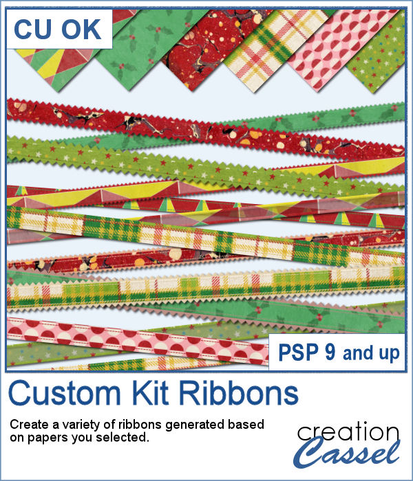 Custom kit ribbons script for Paintshop Pro