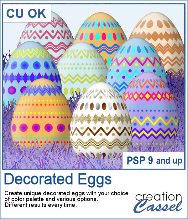 Decorated egg scripts for Paintshop Pro