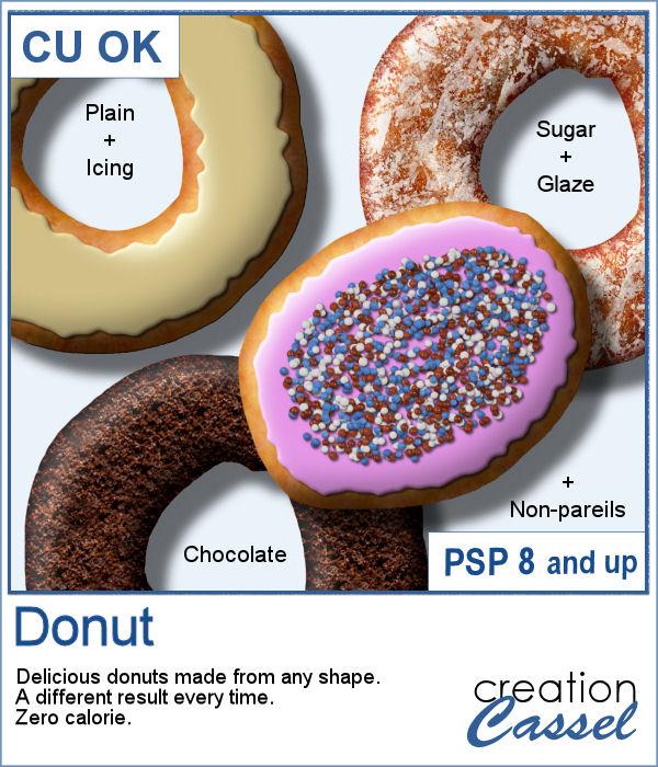Donut script for Paintshop Pro