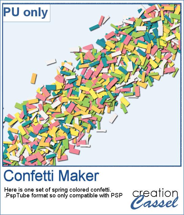 Spring confetti picture tubes for Paintshop Pro