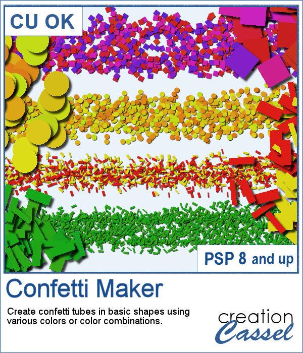 Confetti Maker script for Paintshop Pro