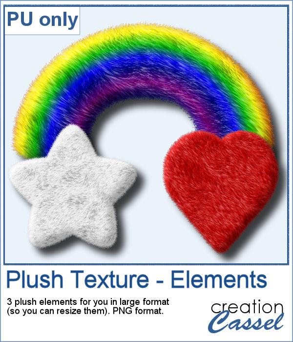 Plush texture elements