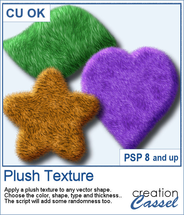 Plush Texture script for Paintshop Pro