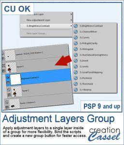 Adjustment layers group script for Paintshop Pro