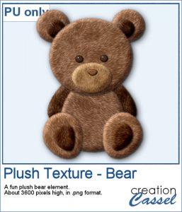 Plush bear sample of the Plush texture in Paintshop Pro