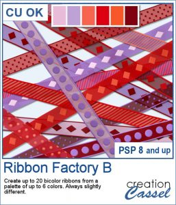 Ribbon Factory script for Paintshop Pro