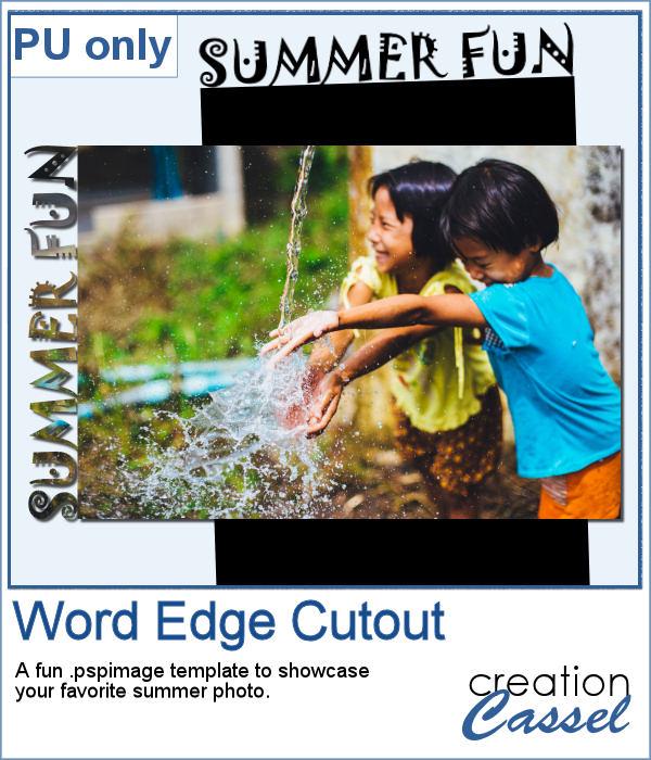 Word Edge Cutout template for Paintshop Pro