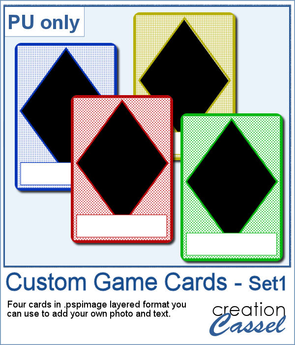 Custom Game cards for Paintshop Pro