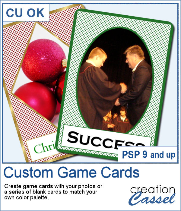 Custom Game Cards script for Paintshop Pro