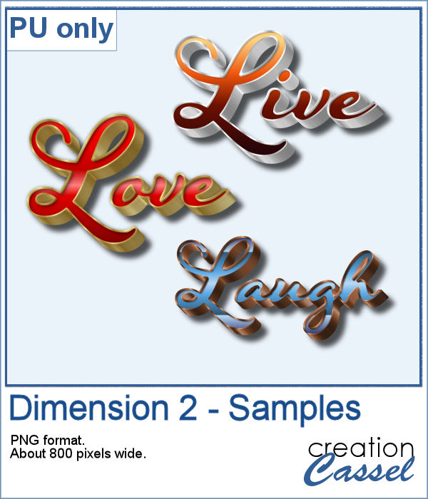 Live Love Laugh extruded elements
