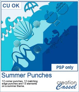 Summer theme brushes for Paintshop Pro