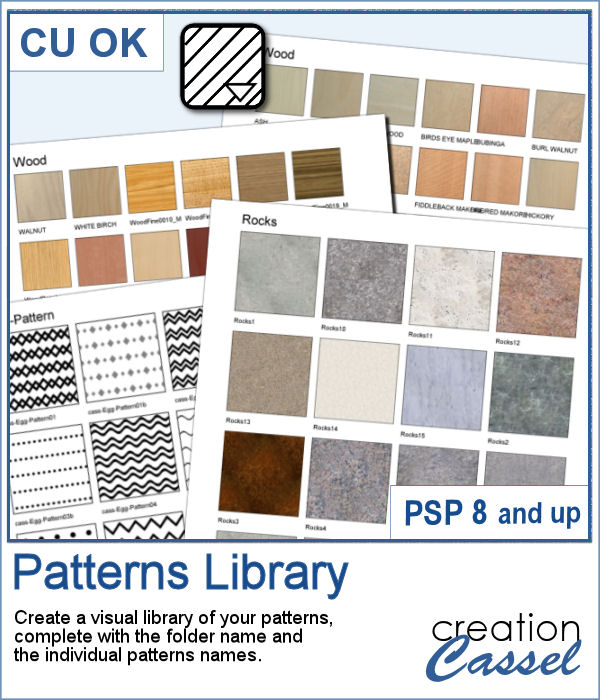 Paintshop Pro script to create a patterns library