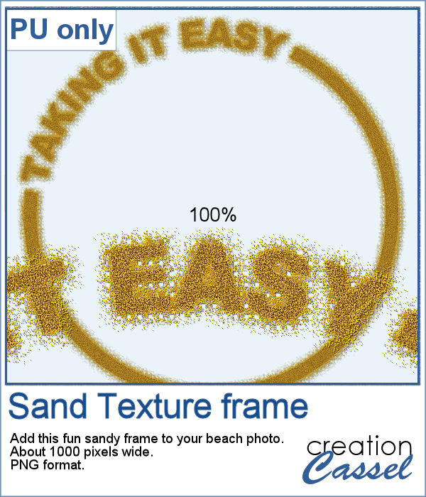 Sandy frame for digital scrapbook layout