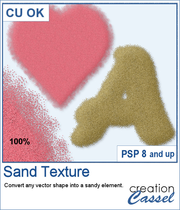 Sand texture script for Paintshop Pro