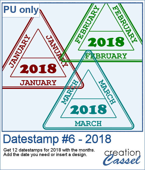 Datestamps for 2018 in png format