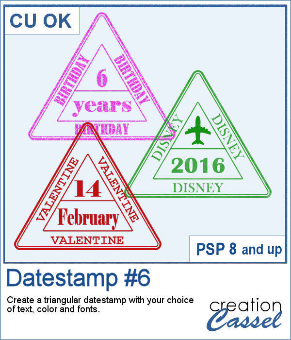 Datestamp script for Paintshop Pro