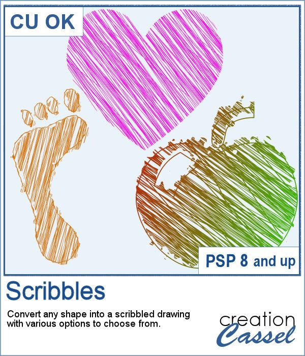 Paintshop Pro script to create scribbles
