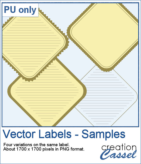 Diamond shape labels in png format