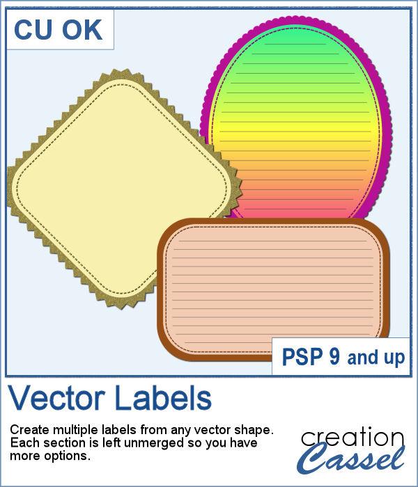 Vector label scripts for Paintshop Pro
