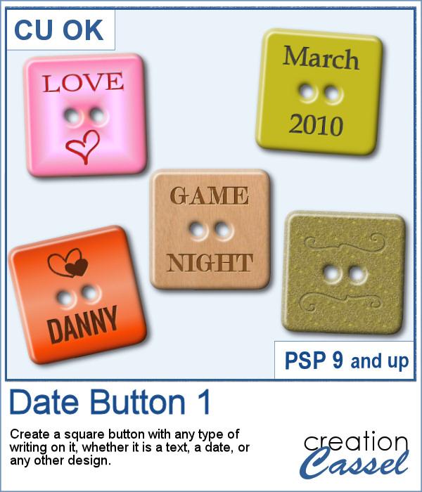 Date button script for PaintShop Pro