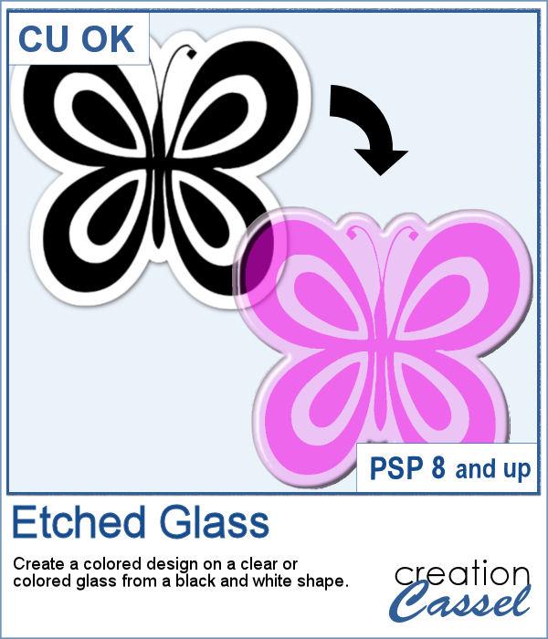 Etched Glass script for PaintShop Pro