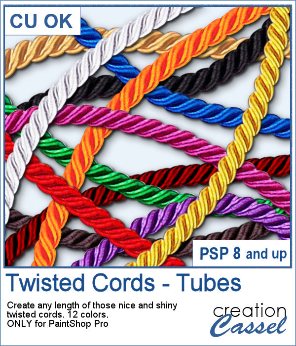 Picture tubes of Twisted cords for PaintShop Pro