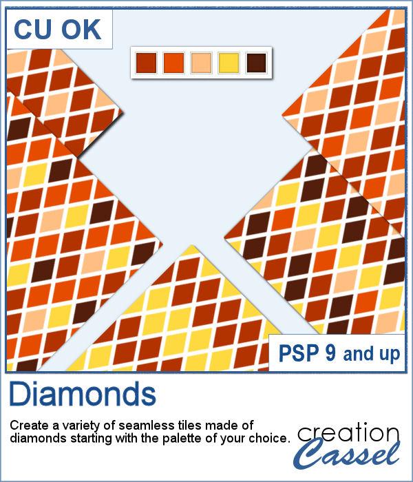 Diamonds pattern script for PaintShop Pro