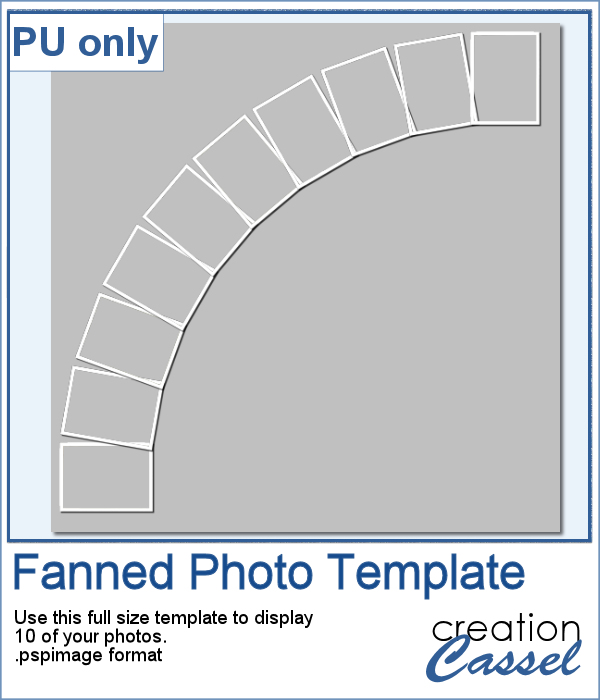 Fanned Photo Collage template