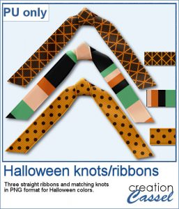 Halloween ribbons and knots in png format