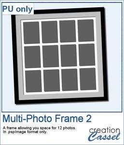 Multi-photo frame in .pspimage format