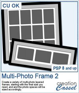 Multi-photo frame script for PaintShop Pro