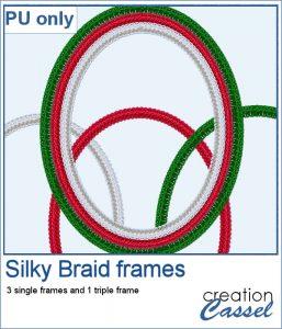 Silky Braid frames in png format