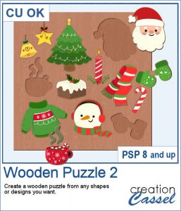 Wooden puzzle script for PaintShop Pro