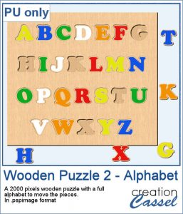 Wooden Puzzle alphabet for PaintShop Pro