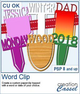 Custom word paperclip script for PaintShop Pro
