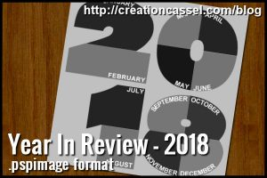 Year in Review template for PaintShop Pro