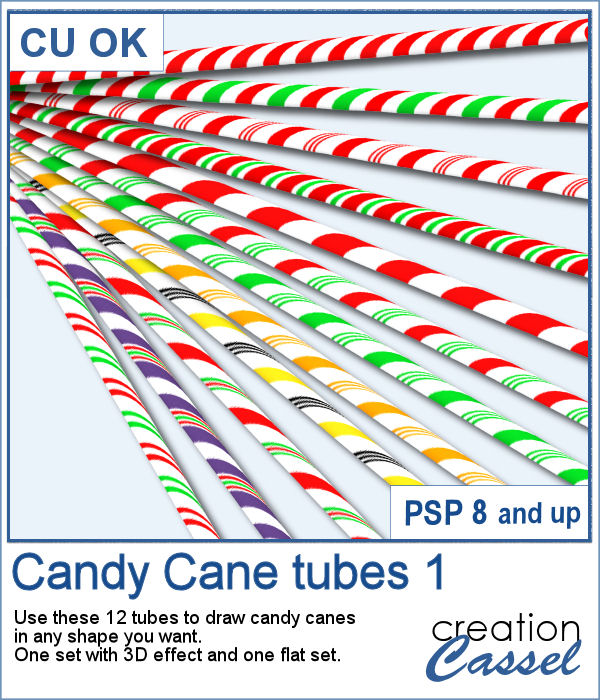 Candy Cane picture tubes for PaintShop Pro